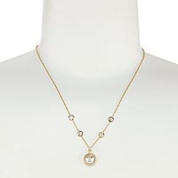 Nadri Basic Pearl Pendant Necklace - Silver
