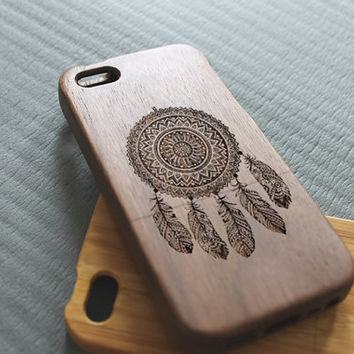 Walnut wood iphone 5c case dream catcher iphone 5c case