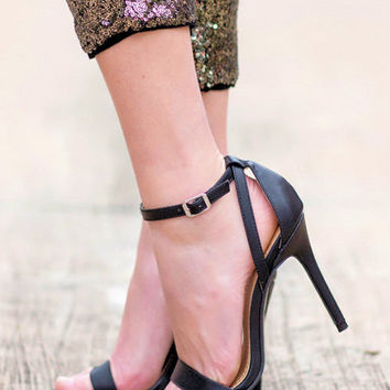 Date Night Heels-Black