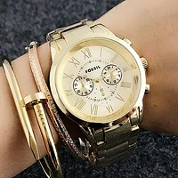 FOSSIL Woman Men Fashion Quartz Movement Wristwatch Watch
