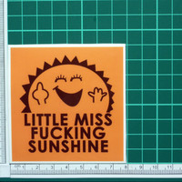 Little Miss Fucking Sunshine Sticker Funny Humor Rude Snarky Parody Decals