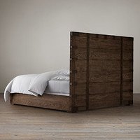 Heirloom Silver-Chest Panel Bed Without Footboard