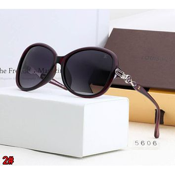 LOUIS VUITTON LV Classic Popular Men Women Chic Shades Eyeglasses Glasses Sunglasses 2# Purple