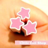 1pc Large Big Pink Star Polymer Clay Cane / Fimo Cane Stick For 3D Nail Art Miniature Sweet Food / Dessert / Cake Deco B059