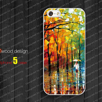 NEW  iphone 5 case for iphone 5 cases  iphone 5 cover the best iphone case paint rain day image unique design
