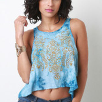 Embroidered Babydoll Tank Top