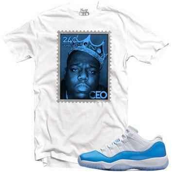 "YOUNG CEO - JORDAN 11 LOW ""UNC"" BIGGIE STAMP WHITE TEE"