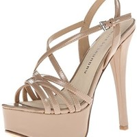 Chinese Laundry Women's Teaser Patent Dress Sandal,Nude,9 M US