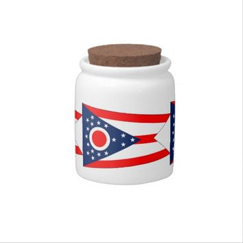 Ohio State Flag Candy Jar