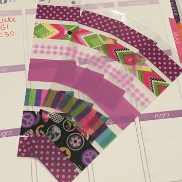 FREE SHIPPING B1 Washi stickers for Erin Condren Life Planner/Plum Paper Planner