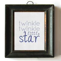 Twinkle Twinkle Little Star - Blue 8x10 Print