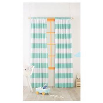 Twill Light Blocking Curtain Panel Stripe - Pillowfort™