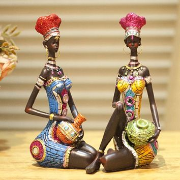 22cm Height Polyresin Africa Beauty Resin crafts