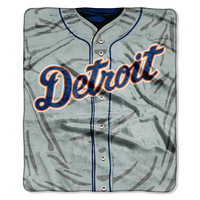 Detroit Tigers MLB Royal Plush Raschel Blanket (Jersey Series) (50in x 60in)