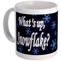 What's Up Snowflake Mug on CafePress.com