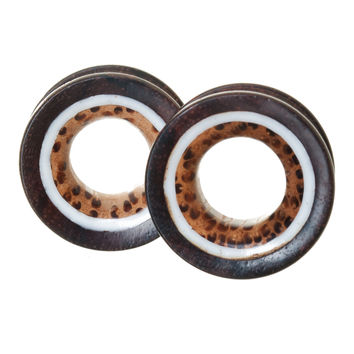 Sono and Coconut Wood Inlay Tunnels Plugs