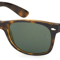 Cheap Ray-Ban RB 2132 902/58 New Wayfarer Tortoise Plastic Sunglasses With Green outlet