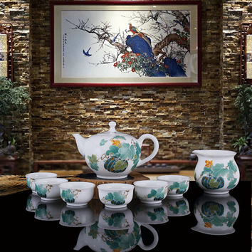 Traditional Chinese Tea Set, Tea Set for Adults