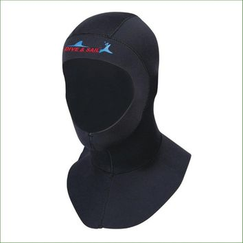 DC02H 3mm neoprene diving hat With shoulder professional uniex swimming cap winter cold-proof wetsuits head cover diving helmet