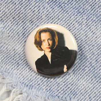 Dana Scully X-Files 1.25 Inch Pin Back Button Badge