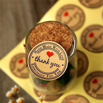 12/60/120PCS Brown Kraft Paper Hang Tags Wedding Party Favor Label thank you Gift Cards trendy for you