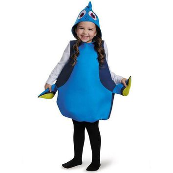 VONE05O Adorable Movie Finding Dory Girls Dory Classic Halloween Cosplay Carnival Party Costume