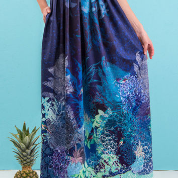 Rainforest - printed maxi skirt