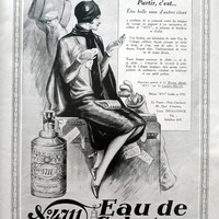 Eau de Cologne 4711 vintage advertising print, original art deco advertisement from 1929 framing poster