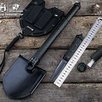 Outdoor Shovel Folding Camping Hunting Tool Multifunctional Sapper Shovel Axe Saw Gear Survival Shovel Tactics EDC tool