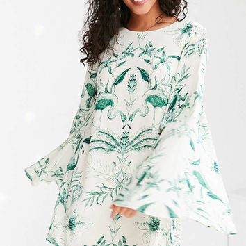 Kimchi Blue Birds Of Paradise Mini Shift Dress - Urban Outfitters