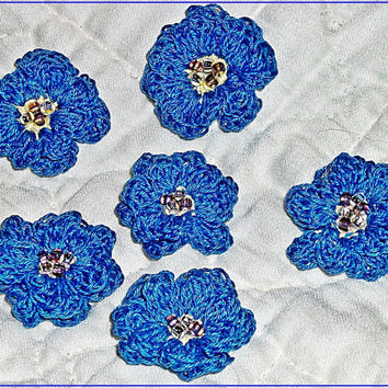 Crocheted  flower appliques Taking custom orders now