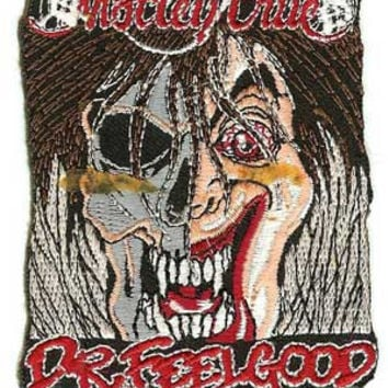 Motley Crue Iron-On Patch Dr Feelgood Logo