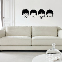 The Beatles Faces Art Decal Sticker Wall Vinyl