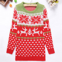Christmas Snow & Milu Sweater