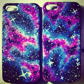 galaxy iphone case by CasesbyCatherine on Etsy