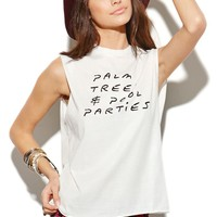 This is a love song Pool Party T-Shirt - Womens Tee - White -