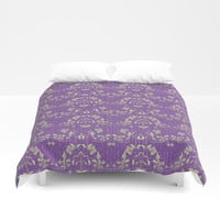 repeating pattern - Purple Haze Duvet Cover by anipani