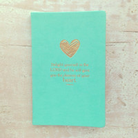 Mint Heart & Bible Verses Journal