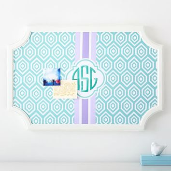 Scallop Monogram Pinboard- Pool Diamond Pop