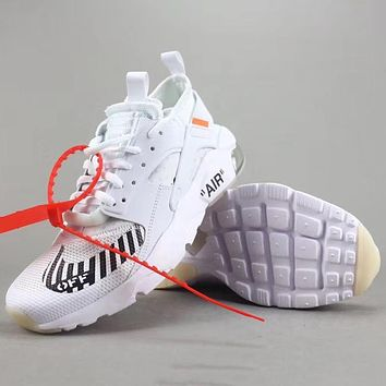 Trendsetter Off White X Nike Air Huarache  Women Men Fashion Casual Sneakers Sport Shoes