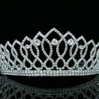 Pageant Queen Rhinestones Crystal Bridal Wedding Prom Tiara Crown