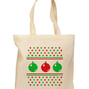 Ugly Christmas Sweater Ornaments Grocery Tote Bag