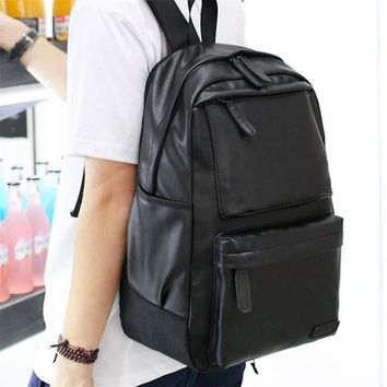 Vintage Men's Backpack Travel Leather Backpack Men Rucksack Shoulder School Bag Supplies Notebooks A Laptop Mochila Masculina