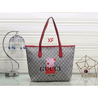 GUCCI Peppa Pig Women Fashion Shopping Leather Handbag Tote Shoulder Bag