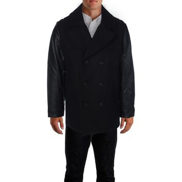 Elie Tahari Mens Wool Double Breasted Coat