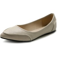Ollio Women's Shoe Ballet Pointed Toe Pastel Low Flat