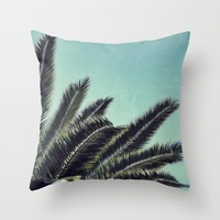 Palms Throw Pillow by RichCaspian