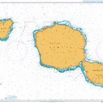 British Admiralty Nautical Chart  1382: South Pacific Ocean - Polynésie Française, Approaches to Tahiti and Moorea