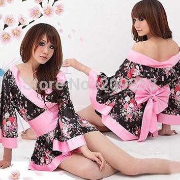 Robe Sexy Nightwear Nightdress Sexy Lingerie Japanese Cherry Blossom Kimono Improved Taste High Quality Home Furnishing Clothing