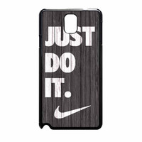 Nike Just Do It Wood Colored Darkwood Wooden Samsung Galaxy Note 3 Case